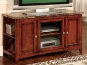Finely TV Stand w/ Faux Marble Top in Cherry by Acme Furniture