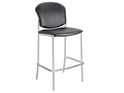 Diaz Bistro Chair - Black Vinyl by Safco