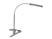 Art Clamp Lamp In Silver Finish