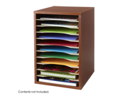 Vertical Desk Top Sorter - 11 Compartment in Cherry by Safco