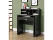 Cappuccino Hollow-Core Spacesaver Desk With Open Storage by Monarch