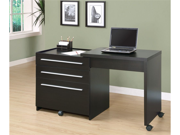 Cappuccino Slide-Out Desk With Storage Drawers by Monarch