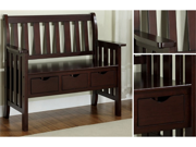 Cappuccino 3 Drawer Storage Bench