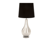 "Designers Lamps - Glass Metal Table Lamp 31""H by Benzara"