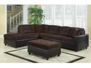 Sectional in Chocolate by Coaster Furniture