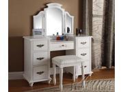 Torian White Finish Vanity Set By Acme