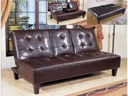 Bennett Adjustable Espresso Futon  Sofa Bed