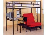 Black Metal Bunk Bed with Futon Pad  by Coaster Furniture