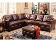Samuel Sectional In Brown Finish