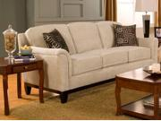 Carver Beige Chenille Sofa by Coaster