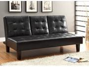 Bragg Collection Futon Sofa in Dark Brown Leather by Homelegance