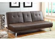 Bragg Collection Futon Sofa in Brown Leather by Homelegance