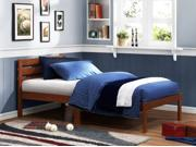 Twin Platform Bed in Cappuccino Finish By Homelegance