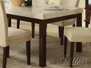 Kyle Dining Table w/ White Marble Top by Acme Furniture