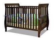 Naomi 4-in-1 Baby Crib w Guardrail Espresso