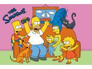The Simpsons Family Fun Time Multi Colored 5 Ft. 3 In. x 7 Ft.  6 In. Kids Rug