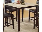 Counter Height Table With Faux Marble Top By Poundex