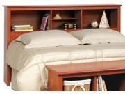 Cherry Double / Queen Bookcase Headboard By Prepac