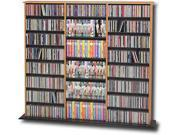 Oak  Black Triple Width Wall Storage for Multimedia (DVD,CD,Games) By Prepac