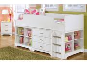 Twin Size Loft Bed with Bookcase - Drawer Storage and Nightstand