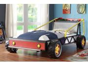 Track Collection Red Twin Race Car Bed by Homelegance