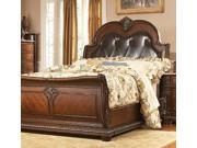 Palace Eastern King Leather Bed By Homelegance
