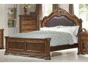 Golden Eagle Queen Bed, Bi-Cast Leather By Homelegance