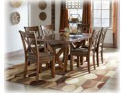 Rectangular Dining Room Extended Table in Medium Brown - Signature Design by Ashley Furniture