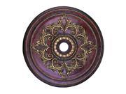 Ceiling Medallion Collection Ceiling Medallion Fixture with  in Verona Bronze with Aged Gold Leaf Accents by Livex