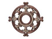 Ceiling Medallion Collection Ceiling Medallion Fixture with  in Palacial Bronze with Gilded Accents by Livex