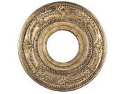 Ceiling Medallion Collection Ceiling Medallion Fixture with  in Vintage Gold Leaf by Livex