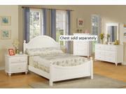 4pcs Full Size Bedroom Set - Cape Cod Style White Finish