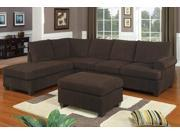 3 Piece Charming sectional sofa reversable modern style By Poundex