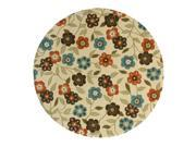 "Montego Collection Woven Rug (#2267Y) 7'10"" Round"