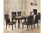 Anisa Dining Set with Black Faux Stone Top and 6 Chairs by Coaster (7 Piece Set)