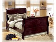 Traditional Classics Full Bed in Warm DarkBrown  Finish