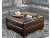 Alliston DuraBlend Chocolate Oversized Accent Ottoman by Ashley Furniture