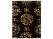 Powell Bombay Suzani Brown 8' x 10' Rug - 200-R0051-8