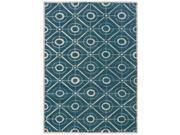 Powell Bombay Contort Teal 5' x 7' Rug - 200-R0063-5