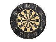 DART BOARD WALL CLOCK
