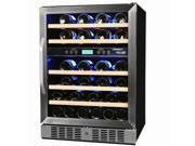 NewAir  AWR-460DB  46-Bottle  Dual-Zone Built-In Compressor Wine Cooler  Stainless Steel & Black