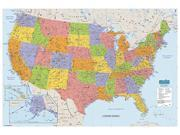 UNITED STATES LAMINATED MAP 50X33