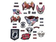 Diamond Plate™ 26pc Embroidered Motorcycle Patch Set