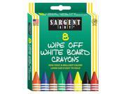 SARGENT ART WHITE BOARD CRAYONS REG