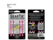 Gear Tie 3in 4pk - Pink