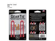 Gear Tie 6in 2 pk - Red