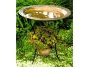 Copperplated Steel Birdbath