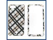 Motorola MB810 (DROID X) / MB870 (DROID X2) Black Plaid Protective Case