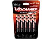 Vpower AA Alkaline Batteries  10-Pack
