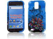 Samsung T989 (Galaxy S II) Blue Flower Protective Case